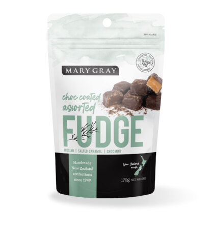 Mary Gray Choc Coated Assorted Fudge Share Bag 200gm